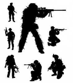 Soldier Silhouettes Stencil Patterns, Camo Patterns, Soldier Silhouette, Military Tattoos, Glass Engraving, Fish Art, Military Art, Stone Art, Light In The Dark