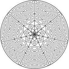 This Geometric design is hypnotizing. Geometrip.com - Free Geometric Coloring Designs - Circles http://geometrip.com/free/coloring/designs/circles/page3.html