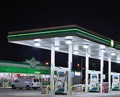 LED Canopy Gas Station Light & 75W 2pcs Pack 5000K LED Profile Canopy Gas Station /Parking Garage ...