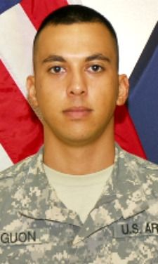 Army SGT. Eugene M. Aguon, 23, of Mangilao, Guam. Died May 16, 2013, serving during Operation Enduring Freedom. Assigned to 1st Battalion, 294th Infantry Regiment, 29th Infantry Brigade Combat Team, Guam National Guard, Fort Juan Muna, Guam. Died in Kabul, Afghanistan, of wounds suffered when enemy forces attacked the convoy he was in with a vehicle borne improvised explosive device.