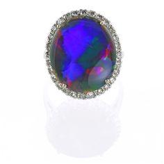 Black Opal #CocktailHour #Cocktailring Black Opal, Cocktail Rings, Gemstone Rings, London, Gemstones, Antiques, Diamond, Vintage, Jewelry