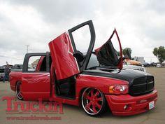 Red Dodge Ram Trucks various years & models