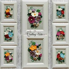 Quilling by Ada: Flowers Paper Quilling Flowers, Paper Quilling Cards, Origami And Quilling, Paper Quilling Designs, Quilling Paper Craft, Quilling Patterns, Paper Crafts, Quilled Creations, Quilling Tutorial