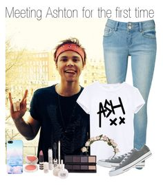 """Meeting Ashton for the first time"" by zalix ❤ liked on Polyvore featuring Cult Gaia, Converse, Topshop, NOVA and ashtonirwin"