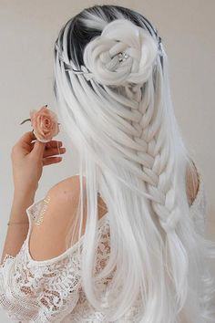 65 Badass Box Braids Hairstyles That You Can Wear Year-Round - Hairstyles Trends Cute Hair Colors, Pretty Hair Color, Beautiful Hair Color, Hair Dye Colors, Down Hairstyles, Pretty Hairstyles, Wedding Hairstyles, Easy Hairstyle, Formal Hairstyles