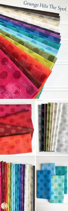 Grunge Hits The Spot is a colorful collection by BasicGrey for Moda Fabrics available at Shabby Fabrics!