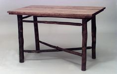 Rustic Old Hickory table dining table oak Old Hickory, Oak Dining Table, Plank, Entryway Tables, Rustic, Furniture, Home Decor, Country Primitive, Decoration Home