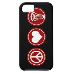 Peace Love Lacrosse design Case For iPhone 5/5S.
