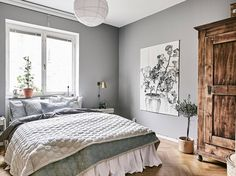 Cozy bedroom in grey - COCO LAPINE DESIGNCOCO LAPINE DESIGN