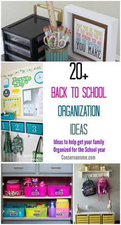 The School year just got a little more organized with these 20+ Back to School Organization Ideas. Help get your family organized for the school year.
