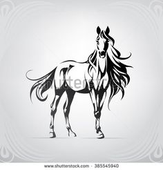 Silhouette of a horse with a long mane best tattoo images - tattoo images - tattoo images drawings - Tatoo Art, Diy Tattoo, Horse Drawings, Art Drawings, Tattoo Caballo, Hirsch Silhouette, Horse Stencil, Wood Burning Patterns, Horse Art