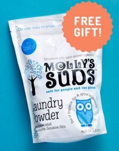 Get Your FREE Molly's Suds Laundry Powder!: $1.95 shipping and handling. New (first-time) customers only. One per… #coupons #discounts