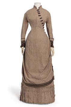 1880 - 1885 Polanaise French Gown