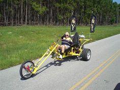 Looks like fun. Black socks and all! Trike Chopper, Vw Trike, Trike Motorcycle, Bike, Custom Trikes, Custom Motorcycles, Boss Hoss, Atv Trailers, Can Am Spyder