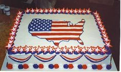 Patriotic Cake By icingonthecakenc on CakeCentral.com