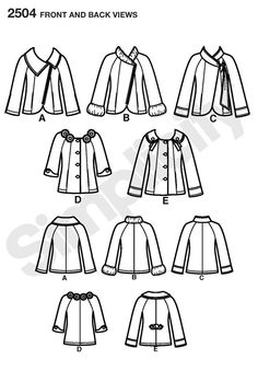 Pattern for Misses Jackets   Simplicity