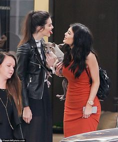 Kylie and Kendall Jenner are nearly mobbed at their Topshop launch #dailymail
