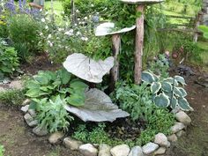 Concrete Tiered Leaf Fountain