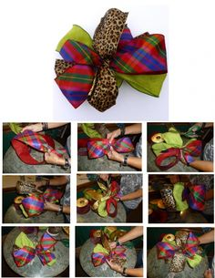 Fall, Fall, Fall-#How to tie a #Bow for a Fall Wreath There's an app for that too www.app.showmedec...