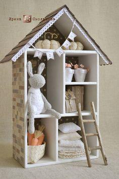 Кукольный дом ручной работы. Ярмарка Мастеров - ручная работа. Купить Домик для Толика. Handmade. Белый, домик