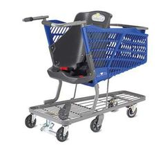 It's also perfect for families who have children in wheelchairs. It's alot easier than trying to figure out how you'll manage to push the cart AND the chair......More grocery stores need to get hip!