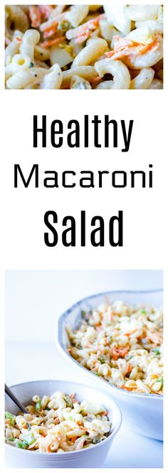 A must in any good buffet, the macaroni salad. Here is a simple healthy recipe, made with Greek yogurt. Get the recipe here : http://www.nobletandem.com/healthy-macaroni-salad/