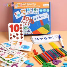 Montessori Toys For Children Mathematics Kids Early Educational Toys Counting Wooden Sticker Kids Number Cognition Birthday Gift Brand Name: KidsbeleMaterial: WoodModel Number: TOYE156Age Range: 2-4 YearsGender: UnisexFeatures: EducationalWarning: small parts are not for baby smaller than 3 yearsPackage: OPP bagMain Characteristic: Montessori Wooden Mathematics Eudcational ToysFunction: Educational Toys Numbers For Kids, Montessori Math, Kids Stickers, Early Education, Math Activities, Educational Toys, Mathematics, Kids Toys, Birthday Gifts