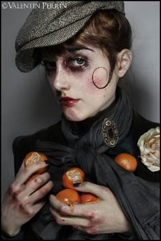 Valentin Perrin - Official Site | Portraits Makeup Inspo, Makeup Art, Makeup Inspiration, Character Inspiration, Hair Makeup, Looks Style, Looks Cool, Dark Circus, Circus Art