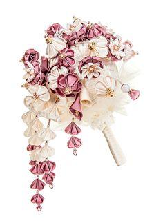 Helene Cascading Bridal Bouquet Ivory & от PetiteLumiereCo