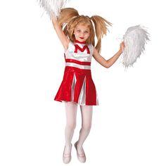 Cheerleader Queen αποκριάτικη στολή μαζορέτας για κορίτσια ηλικίας έως δεκατεσσάρων ετών σε άσπρο και κόκκινο χρώμα. Η στολή της Τσιρλίντερ αποτελείται από το Φόρεμα. Εμπλουτίστε τη στολή με τα αξεσουάρ που δεν περιλαμβάνονται όπως: Περούκα, Pompom και Καλσόν. Cheerleading, Cheer Skirts, Ronald Mcdonald, Disney Characters, Fictional Characters, Seasons, Disney Princess, Fashion, Moda