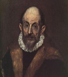 El Greco Portrait of a Man, , Metropolitan Museum of Art, New York. Read more about the symbolism and interpretation of Portrait of a Man by El Greco. Renaissance Kunst, Renaissance Artists, Caravaggio, Rembrandt, Famous Artists, Great Artists, Renaissance Espagnole, Joseph Pulitzer, Byzantine Art