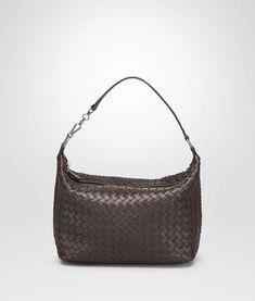 7ccb1ea290d2 ESPRESSO INTRECCIATO NAPPA SMALL SHOULDER BAG