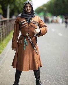 Georgian man in a traditional costume