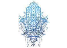 Ad: Hamsa Hand Intricate Design by MISSCHATZ* on Beautiful Blue Hamsa Hand, Intricate Lotus Design Layered Vector Illustration. Hamsa Tattoo Meaning, Hamsa Tattoo Design, Hamsa Design, Tattoo Designs, Hamsa Drawing, Hamsa Art, Body Art Tattoos, Hand Tattoos, Sleeve Tattoos