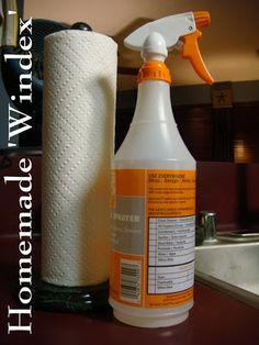 Homemade Windex - add ammonia to the shopping list.  It's official, you can pretty much clean anything with about 4 ingredients - vinegar, baking soda, ammonia, rubbing alcohol.  I'm loving it.