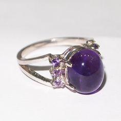 Magnifico AMETHYST  925 Sterling Silver Ring Size 7 #Magnifico