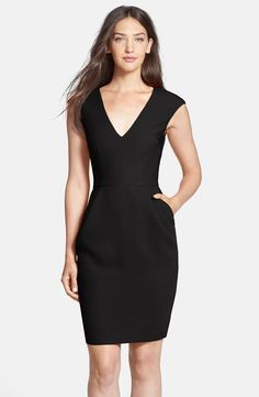 Woven Sheath Dress ( @Nordstrom Exclusive) – dresses with pockets are the best! / Clove #nordstrom