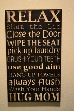 Bathroom Rules Subway Art by BabyShues on Etsy, $35.00