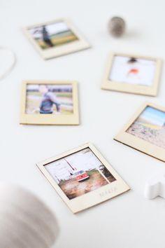 DIY wooden polaroid GIFT SET via Sugar and Cloth blog