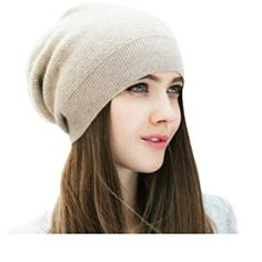 WaySoft Pure Cashmere Beanie for Women in a Gift Box, Oversized Women Beanie Hat, Bring Warm and Luxury to Your Loved Ones, Perfect (Beige) Cashmere Beanie, Loose Fit Jeans, Beanie Hats, Beanies, Slouch Beanie, Winter Hats For Women, Caps For Women, Knit Fashion, Business Outfits