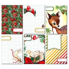Woodland Animals Journaling Cards