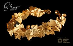 """Gold: Power and Allure, Years of Gold Treasures from Across Britain"""" (through July offers visitors a dazzling opportunity to consider the beauty and this most fabled, precious metal. Gold Wreath, Ivy Leaf, Tiaras And Crowns, The Crown, Photo Jewelry, Precious Metals, Still Life, Headpiece, Jewerly"""