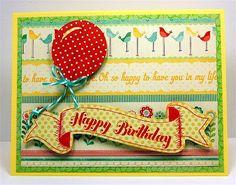 Capadia Designs: Happy Birthday Banner & Balloon Card