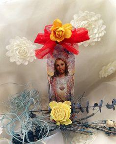 Jesus Seven day Candlescandela de Jesus altar by TriquetraBoutique