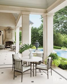 Traditional Covered Terrace | LUXE