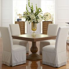 Kinsley square dining room with Kellen chairs, dining room furniture, 2015 CORT Signature Collection