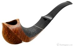 Japanese Estate Tobacco Pipes: Takeo Arita Partially Rusticated Bent Shield (Y)(167) (2006)