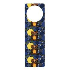 Awesome Owl Abstract Art Door Knob Hangers #door #hanger #owls #birds #art And www.zazzle.com/inspirationrocks*