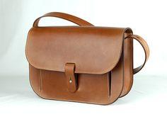 FIORENZA brown leather purse / handbag/ por NakedleatherBCN en Etsy