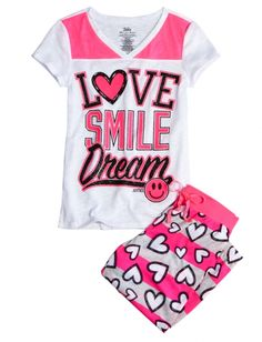 Find the latest in colorful and comfy sleepwear sets for girls at Justice! Shop cute pajamas in tons of fun prints and designs to match her individual style with our collection of sleepwear tops, bottoms, onesies and more. Cute Pjs, Cute Pajamas, Justice Pajamas, Shop Justice, Pajama Outfits, Justice Clothing, Girls Pajamas, Girls Sleepwear, Kids Fashion